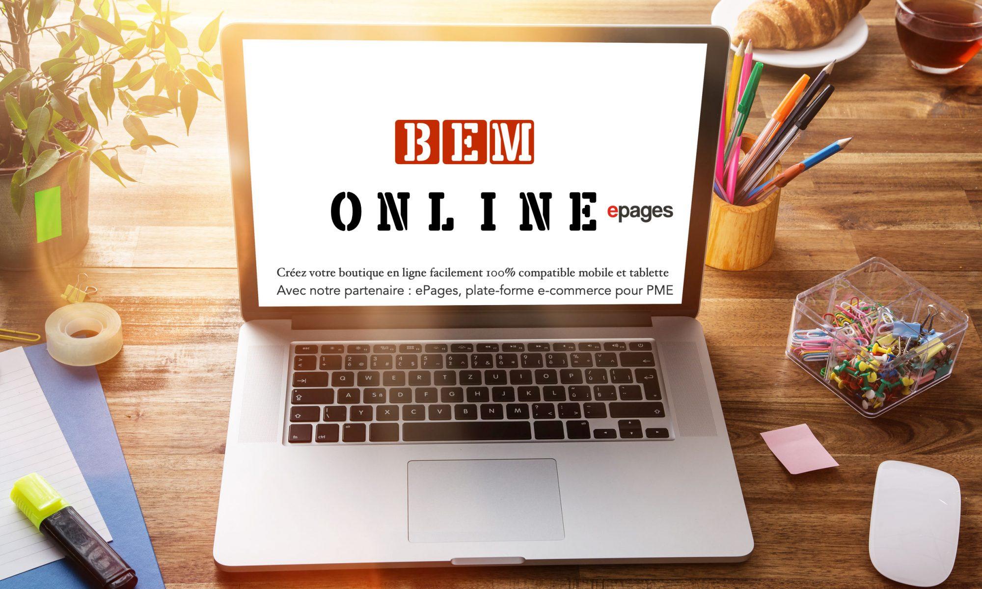 BEM Online | Créer votre Boutique